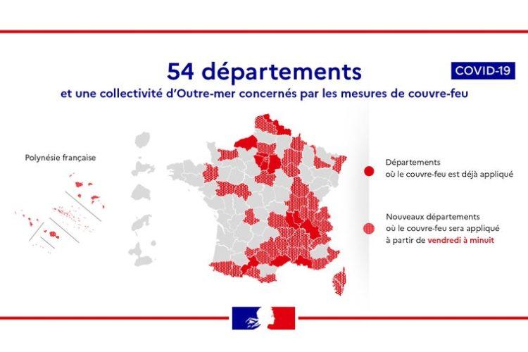 Toque de queda en Francia : lista de los departamentos impactados