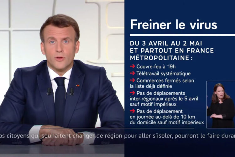 Tercer confinamiento en Francia